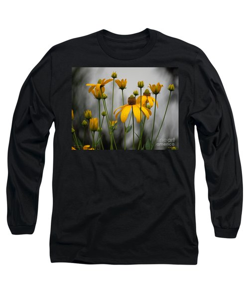 Long Sleeve T-Shirt featuring the photograph Flowers In The Rain by Robert Meanor