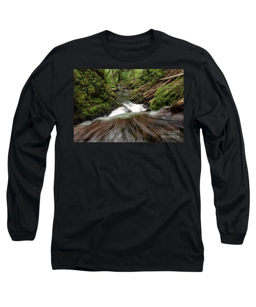 Flowing Downstream Waterfall Art By Kaylyn Franks Long Sleeve T-Shirt