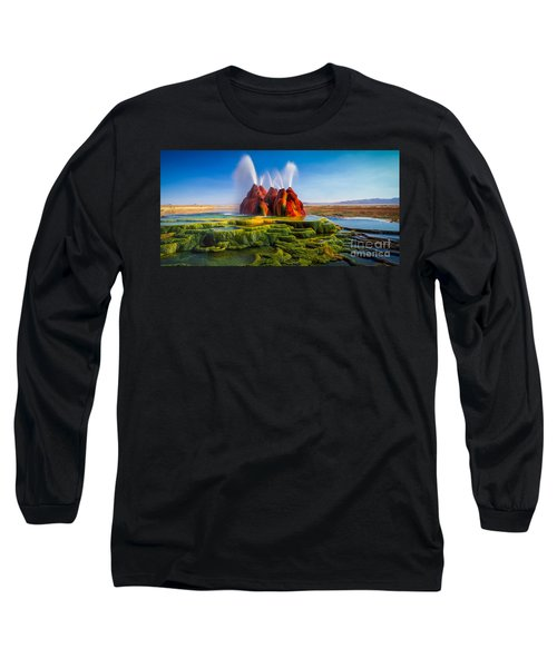 Fly Geyser Panorama Long Sleeve T-Shirt