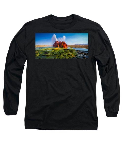 Fly Geyser Panorama Long Sleeve T-Shirt