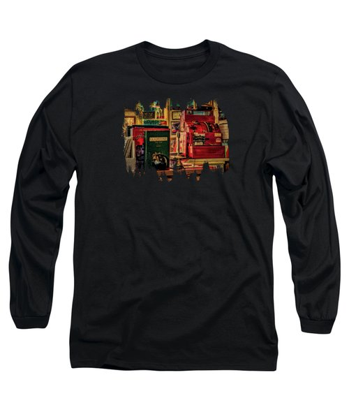 Flying A Service Station Office Long Sleeve T-Shirt