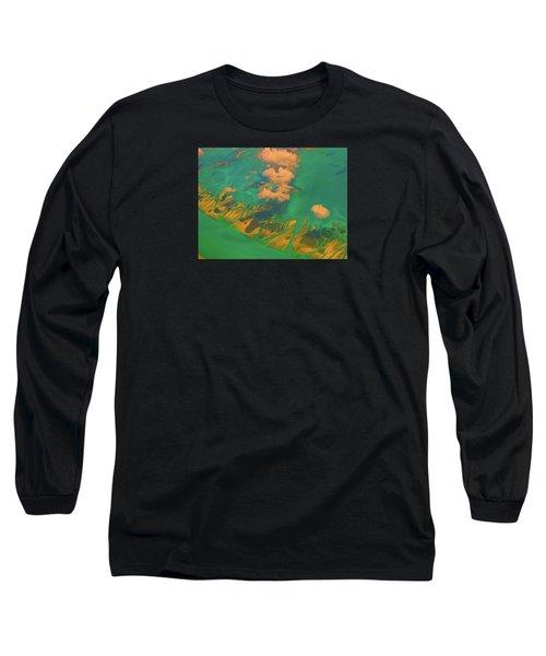 Flying Over The Keys, Florida Long Sleeve T-Shirt