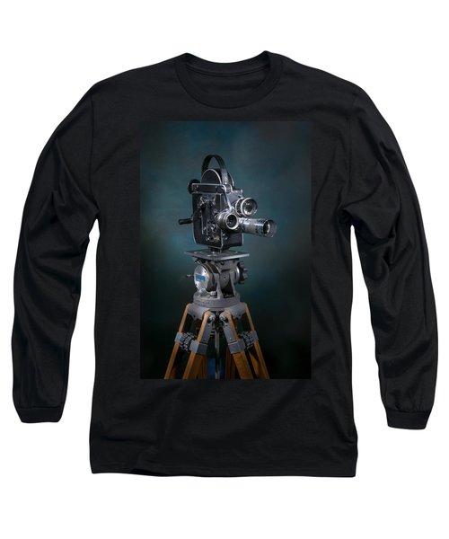 Focus In Blue Long Sleeve T-Shirt