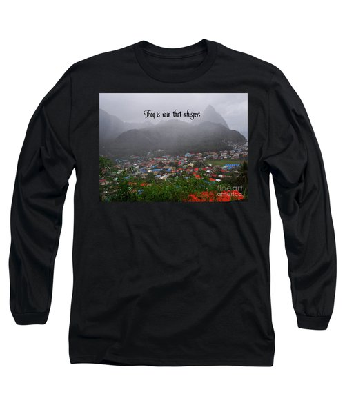 Long Sleeve T-Shirt featuring the photograph Fog by Gary Wonning