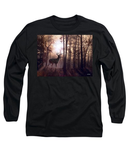 Foggy Morning In Missouri Long Sleeve T-Shirt by Bill Stephens