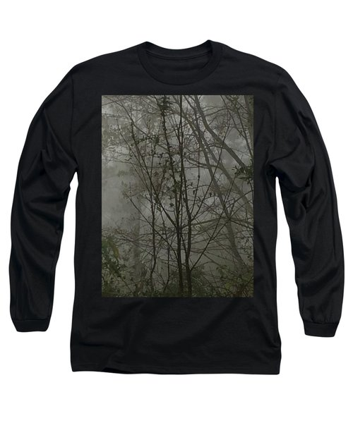 Foggy Woods Photo  Long Sleeve T-Shirt by Gina O'Brien