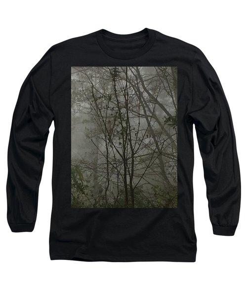 Foggy Woods Photo  Long Sleeve T-Shirt
