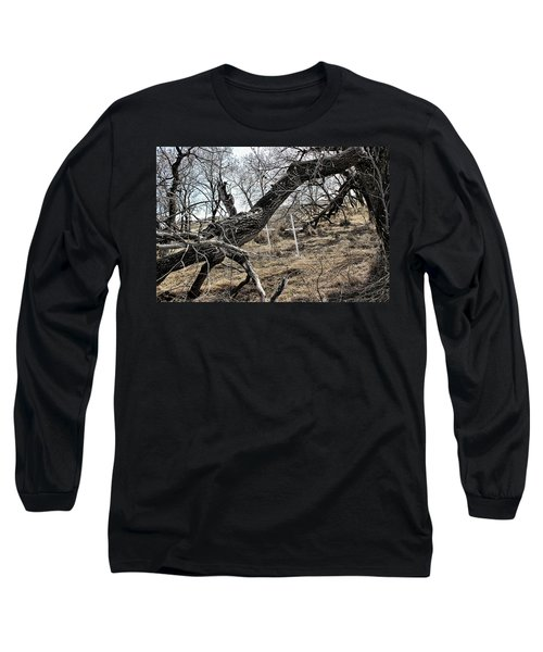 Long Sleeve T-Shirt featuring the photograph Fone Hill Cemetery  by Ryan Crouse