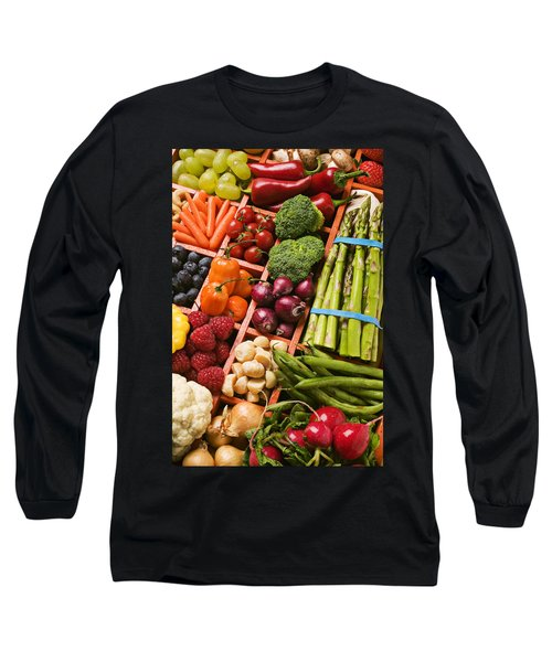 Food Compartments  Long Sleeve T-Shirt by Garry Gay