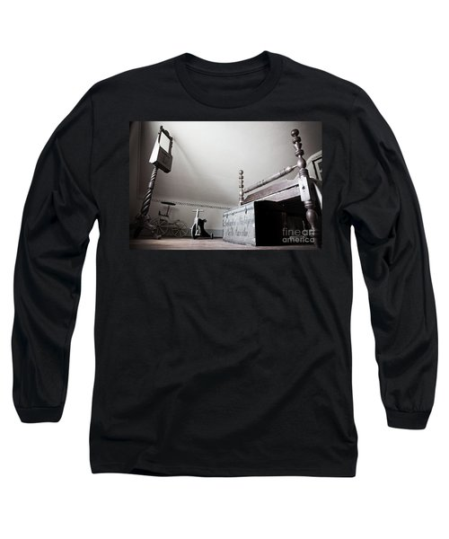 Foot Of The Bed Long Sleeve T-Shirt by Randall Cogle