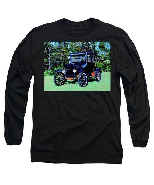 Ford Model T Long Sleeve T-Shirt by Stan Hamilton
