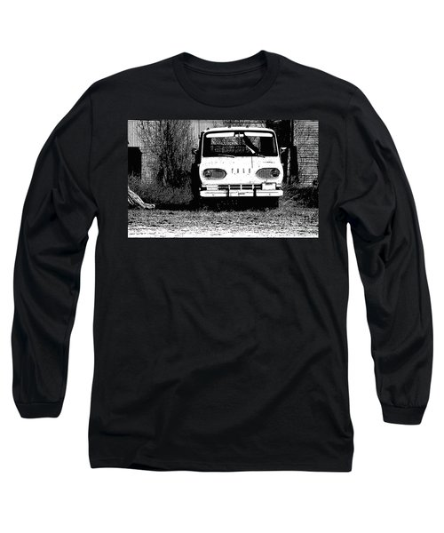 Ford Sketched In Black And White Long Sleeve T-Shirt by Renie Rutten