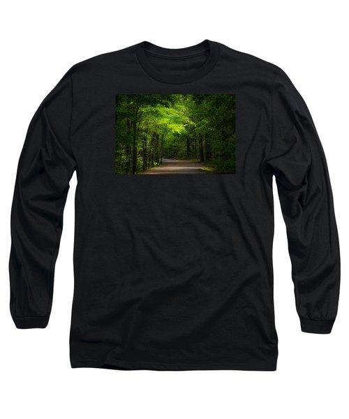 Forest Path Long Sleeve T-Shirt by Parker Cunningham