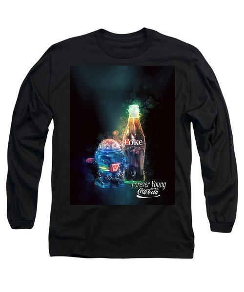 Long Sleeve T-Shirt featuring the photograph Forever Young Coca-cola by James Sage