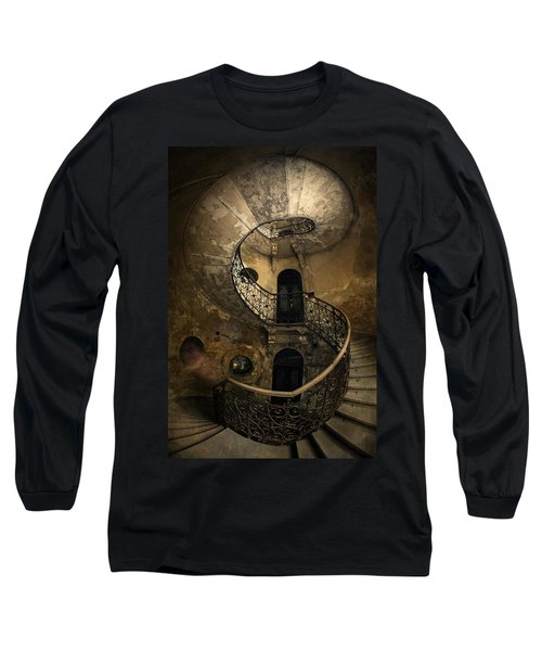 Long Sleeve T-Shirt featuring the photograph Forgotten Staircase by Jaroslaw Blaminsky
