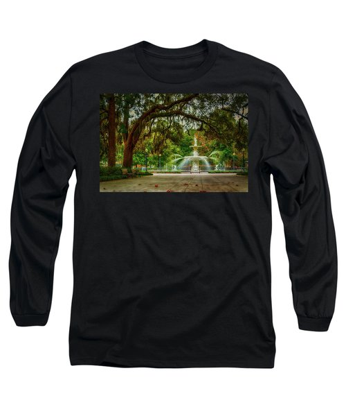 Forsyth Park Fountain Long Sleeve T-Shirt