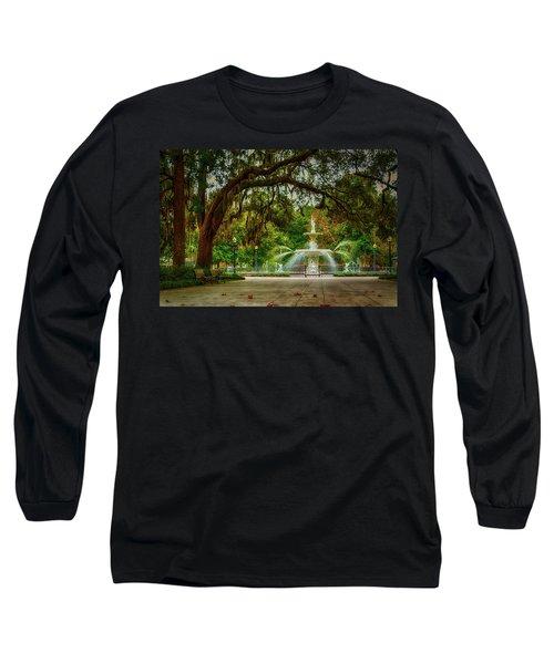Forsyth Park Fountain Long Sleeve T-Shirt