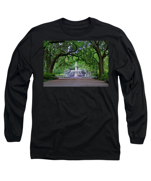 Long Sleeve T-Shirt featuring the photograph Forsyth Park by Jean Haynes