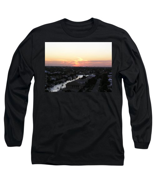 Fort Lauderdale Sunset Long Sleeve T-Shirt by Patricia Piffath