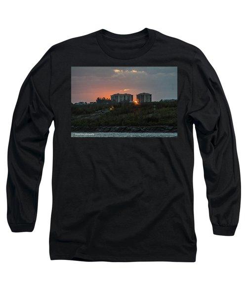 Fort Pierce Sunrise Long Sleeve T-Shirt by Nance Larson