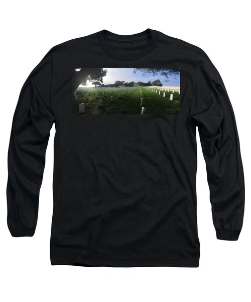 Long Sleeve T-Shirt featuring the photograph Fort Rosecrans National Cemetery by Lynn Geoffroy