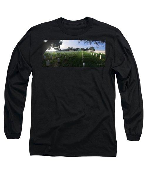 Fort Rosecrans National Cemetery Long Sleeve T-Shirt by Lynn Geoffroy