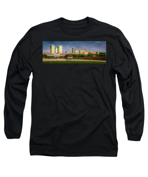 Fortworth Texas Cityscape Long Sleeve T-Shirt