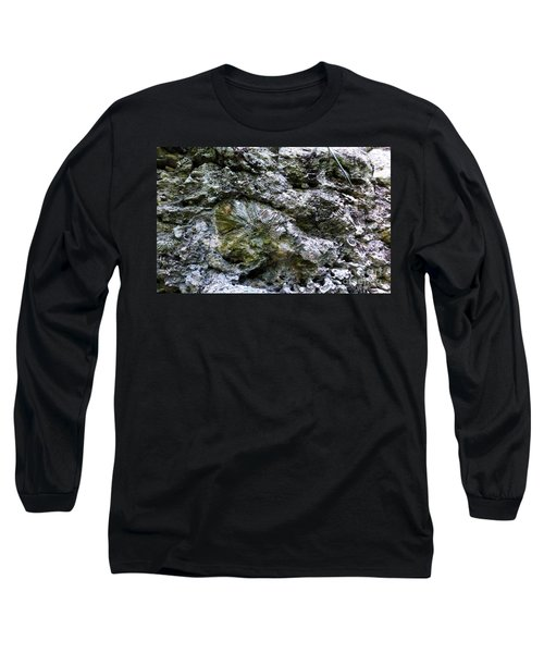 Long Sleeve T-Shirt featuring the photograph Fossil In The Wall by Francesca Mackenney