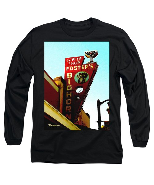 Foster's Bighorn Cafe Long Sleeve T-Shirt by Sadie Reneau