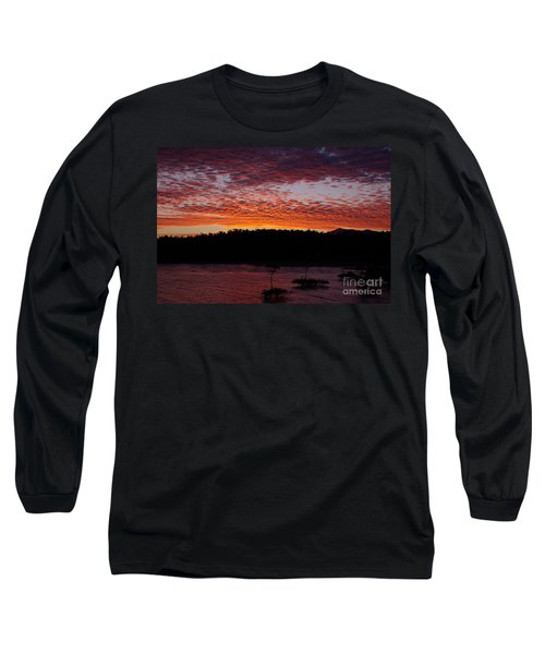Long Sleeve T-Shirt featuring the photograph Four Elements Sunset Sequence 2 Coconuts Qld by Kerryn Madsen - Pietsch