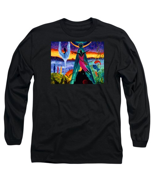 Long Sleeve T-Shirt featuring the painting Flight by Marina Petro