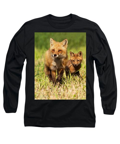 Fox Family Long Sleeve T-Shirt by Mircea Costina Photography