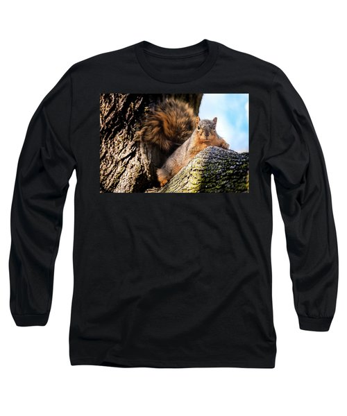 Fox Squirrel Watching Me Long Sleeve T-Shirt