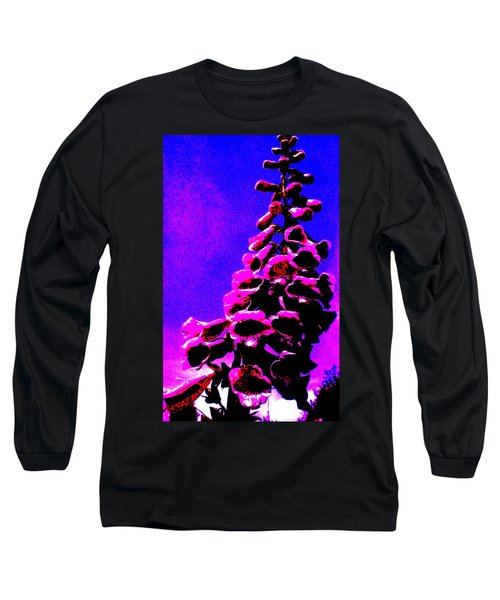 Long Sleeve T-Shirt featuring the painting Foxglove by Renate Nadi Wesley
