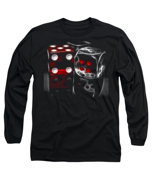 Long Sleeve T-Shirt featuring the photograph Fractalius Dice by Shane Bechler