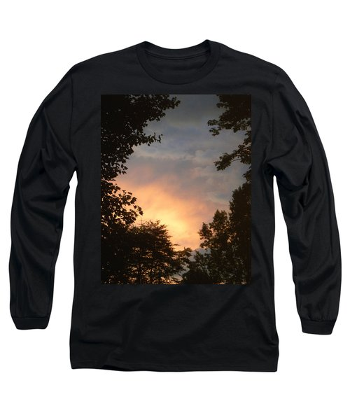 Long Sleeve T-Shirt featuring the photograph Framed Fire In The Sky by Sandi OReilly