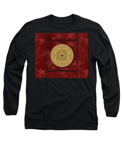 Framed Zenfly Bi Coin Long Sleeve T-Shirt