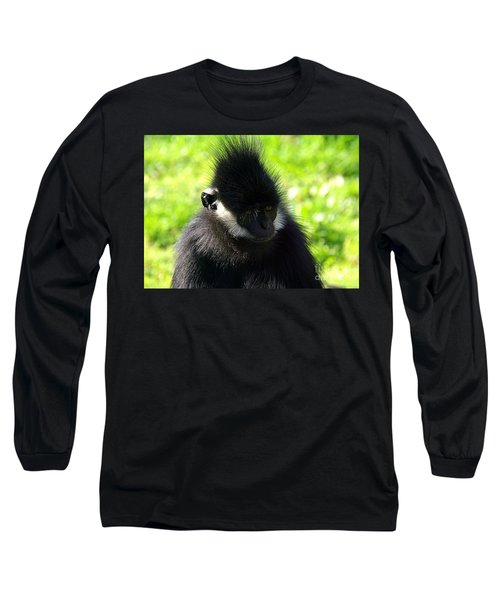 Long Sleeve T-Shirt featuring the photograph Francois Langur by Lisa L Silva