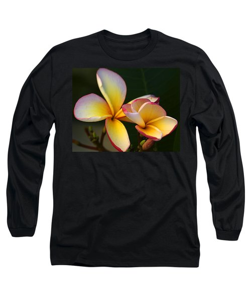 Frangipani Flowers Long Sleeve T-Shirt