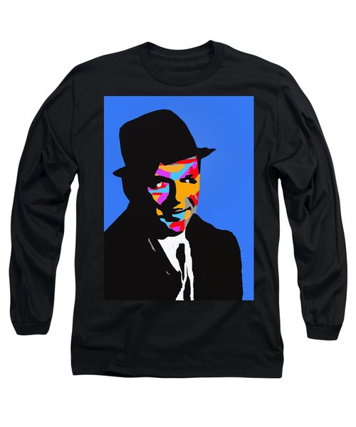 Long Sleeve T-Shirt featuring the drawing Frank Feeling Blue by Robert Margetts