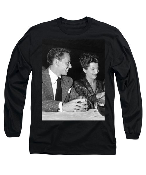 Frank Sinatra And Nancy Long Sleeve T-Shirt by Underwood Archives