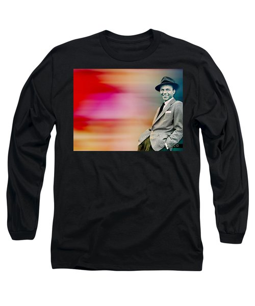 Long Sleeve T-Shirt featuring the digital art Frank Sinatra by Marvin Blaine