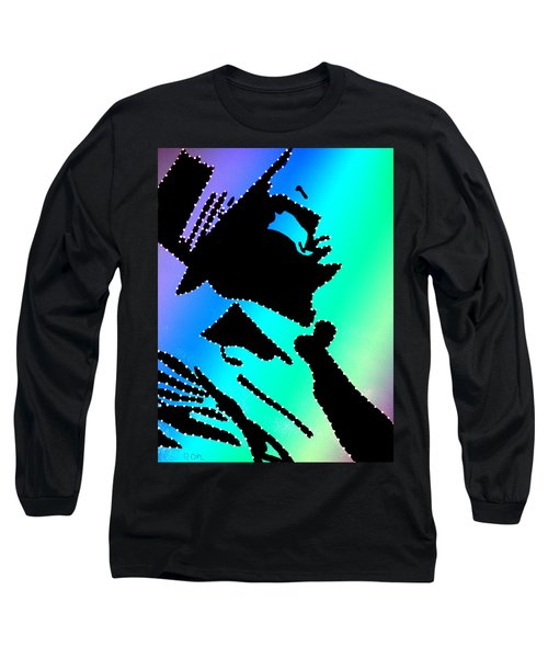 Frank Sinatra Over The Rainbow Long Sleeve T-Shirt by Robert Margetts