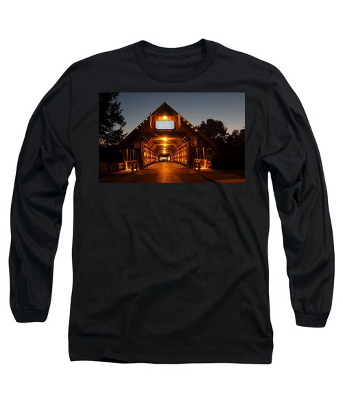 Frankenmuth Covered Bridge Long Sleeve T-Shirt by Pat Cook
