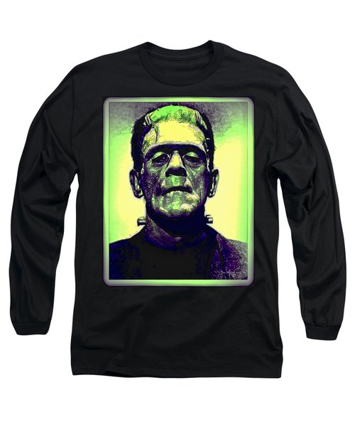 Frankenstein In Color Long Sleeve T-Shirt by Joan  Minchak