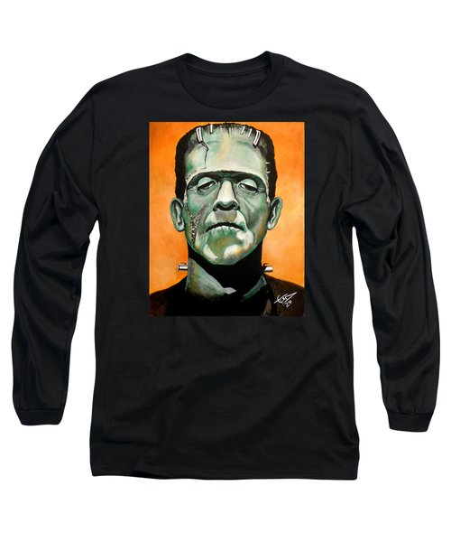 Frankenstein Long Sleeve T-Shirt by Tom Carlton