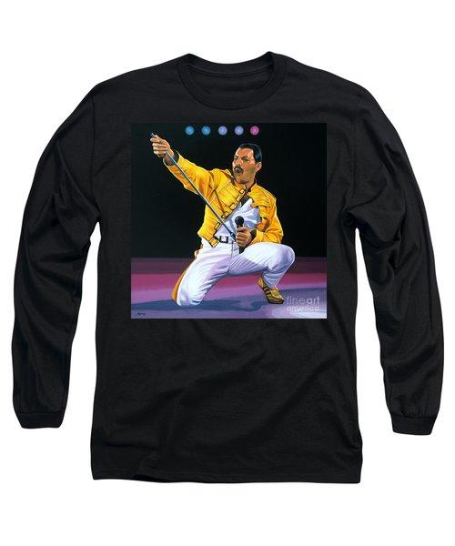 Freddie Mercury Live Long Sleeve T-Shirt