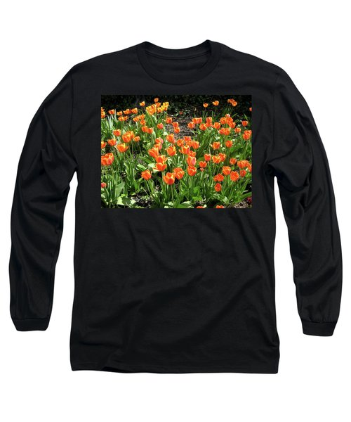Long Sleeve T-Shirt featuring the pyrography Fred's Garden by Michael Lucarelli