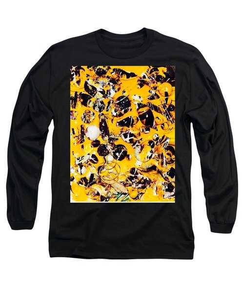 Long Sleeve T-Shirt featuring the painting Free Expression by Inga Kirilova
