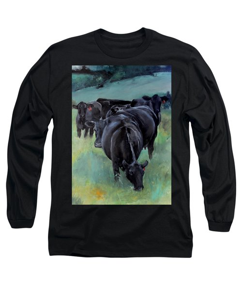 Free Range Cow Girls Long Sleeve T-Shirt by Michele Carter